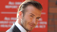 David Beckham high-pitched voice seems to be getting deeper, right?
