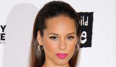 Alicia Keys in feathery Givenchy for charity: lovely or tragic?
