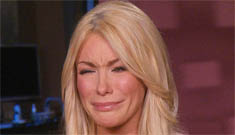 Crystal Harris' Botoxy face tries to cry: 'I was not the only woman in Hef's life'