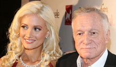 Hugh Hefner is telling friends he should have married Holly, but she's moved on