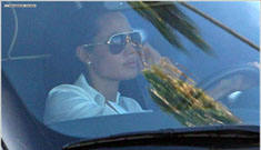 Angelina drives a gas guzzler