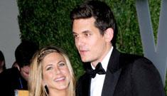 John Mayer is trying to win Jennifer Aniston back, since she's taken now