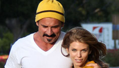 Annalynne McCord's pap walk w/ new bf Dominic Purcell of Prison Break