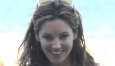 Kelly Brook's incredible hourglass figure is still in Italy: still crazy-hot?
