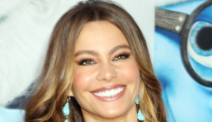 Sofia Vergara wears Missoni, molests Smurfs at premiere: hot or trashy?