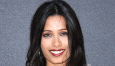 Freida Pinto in an Obando gown: gorgeous green, or is the color off?