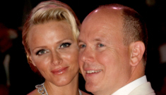 Princess Charlene in fuchsia Akris, with her husband: lovely or tragic?