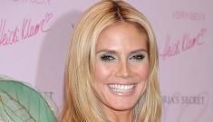 Heidi Klum launches new makeup line in costume