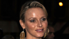 Princess Charlene in an off-white summer gown:   lovely, tacky or meh?