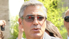 George Clooney is flying solo at the Venice Film Festival, no Stacy Keibler