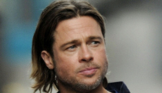 Star: Brad Pitt is spending time with his attractive assistant in his trailer