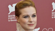 Evan Rachel Wood in D&G:   too androgynous or is she a mini-Cate Blanchett?