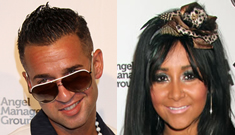 The Situation & Snooki lit up the Vegas strip in orange on Labor Day weekend