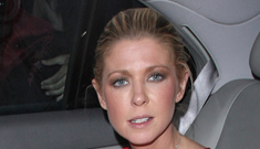 Newly evicted Tara Reid flashes her undies while out on the town with husband