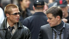 New candids of Brad Pitt and co. on the Oceans 13 set