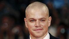 "Matt Damon explains his bald head: ""it's called 'The Lauer'"""