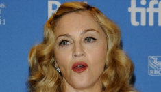 Madonna won't let people stare directly into her crazy face