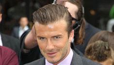 David Beckham gets ladies to smell his leg at Target (video)
