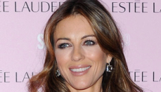 """Liz Hurley brings Damien to a Breast Cancer Awareness event"" links"