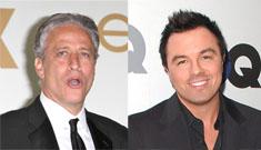 Seth MacFarlane on feud w/ Jon Stewart: 'my publicist forbid me to talk about it'