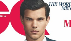 Taylor Lautner's dirt lip covers GQ Australia: Mature or playing dress up?