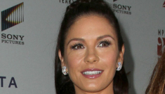 Catherine Zeta-Jones in a silver-grey gown: busted or beautiful?