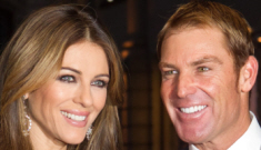 "Liz Hurley: ""I don't want Shane putting his great big fat fingers in my moisturizer"""