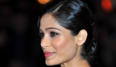 Freida Pinto in a black Ralph Lauren jumpsuit: gorgeous or busted?