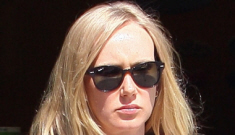 "Kimberly Stewart debuts baby Delilah, claims Benicio del Toro is ""involved"""