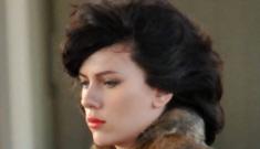 """Scarlett Johansson looks pretty good as a brunette"" links"
