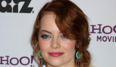 Emma Stone in white at the Hollywood Film Awards: corpsey & rough?