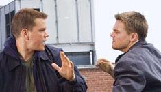 Matt Damon and Leonardo DiCaprio prank Jack Nicholson