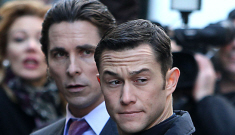 Joseph Gordon Levitt & Christian Bale film 'Batman' in NYC, at Trump Tower