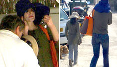 Michael Jackson dressed as a transvestite in St. Tropez