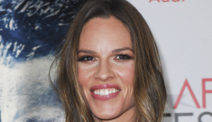 Hilary Swank makes her first post-Chechnya appearance as her PR firm fires her
