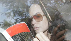 More pictures of Angelina Jolie looking studious