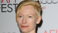 Tilda Swinton in white at the AFI Fest: angelic alien and Oscar contender?