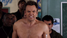 The Community hunks and Joel McHale drink coffee shirtless: hot, goofy or both?