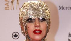 """Lady Gaga dressed up like Ferrero Rocher for the Bambi Awards"" links"