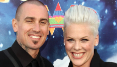 Pink & Carey Hart bring 5-month-old Willow Sage to premiere of 'Happy Feet 2′