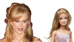 Who looks more natural: Nicole Kidman or Barbie