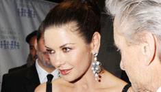 Catherine Zeta-Jones, old school glam in a black sequin gown: lovely or bland?