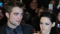 Did Robert Pattinson break up with Kristen Stewart right before the BD premiere?
