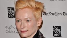 Tilda Swinton in Haider Ackermann at the Gotham Awards: David Bowie-esque?
