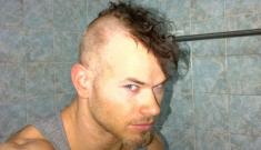 Kellan Lutz's shaves his Kellan Lutzy hair into a Mohawk: sketchy or cute?