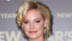 Katherine Heigl at the NYE premiere with helmet hair: pretty or too Golden Girls?