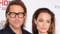 Angelina Jolie in navy Romona Keveza in LA: gorgeous or rough?