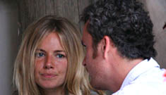 Sienna Miller and Bathazar Getty on the rocks