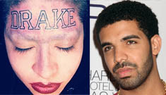 "Woman gets huge ""Drake"" tattoo across her entire forehead"