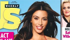 Kim Kardashian's Photoshop diet on the cover of Us; claims to be a size 2